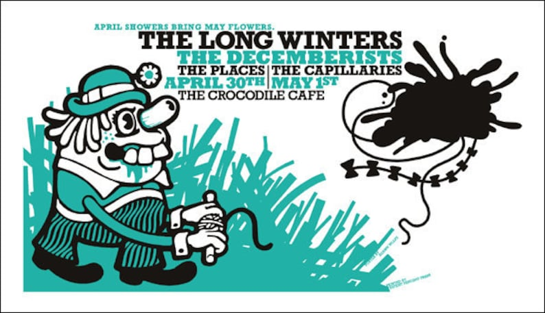 Long Winters / Decemberists: poster by Shawn Wolfe image 0