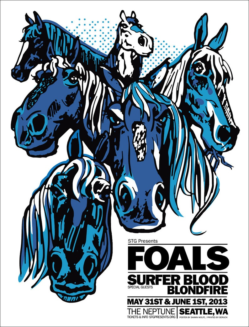 FOALS poster by Shawn Wolfe image 0