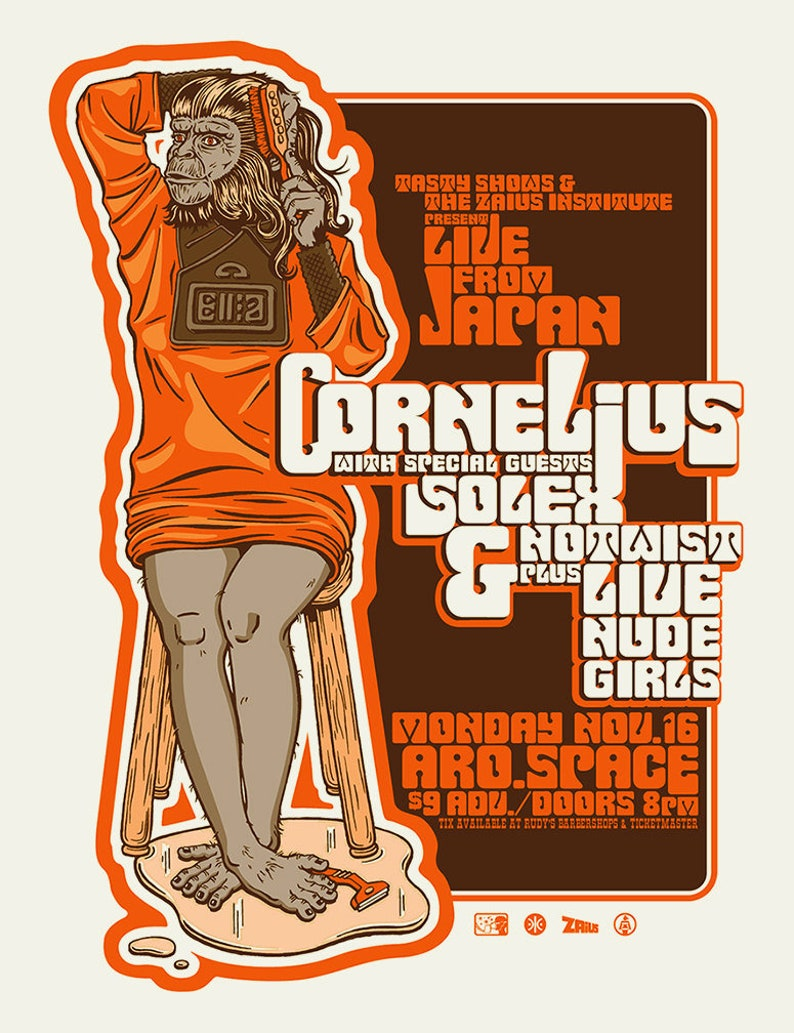 1998 Cornelius concert poster by Shawn Wolfe image 0