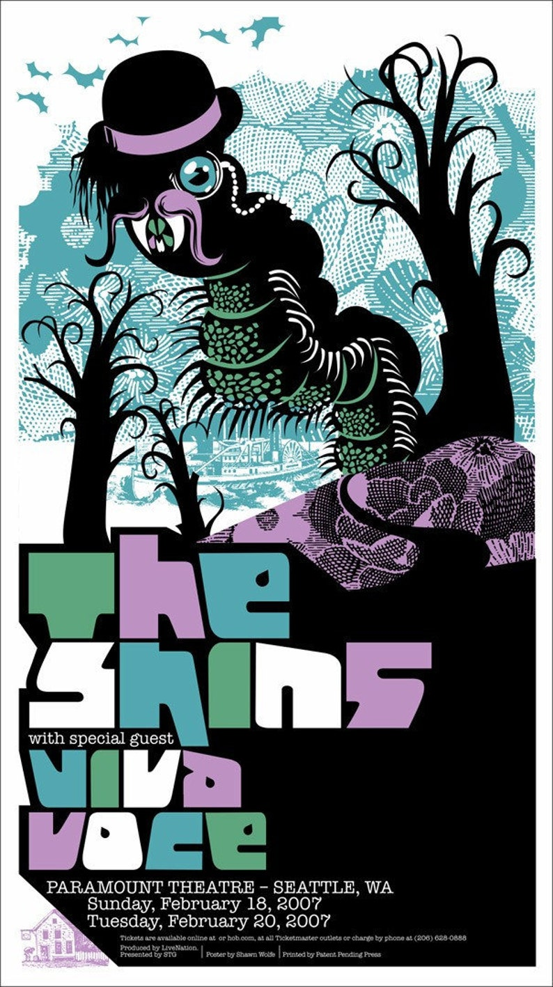 The Shins / Viva Voce poster by Shawn Wolfe image 0