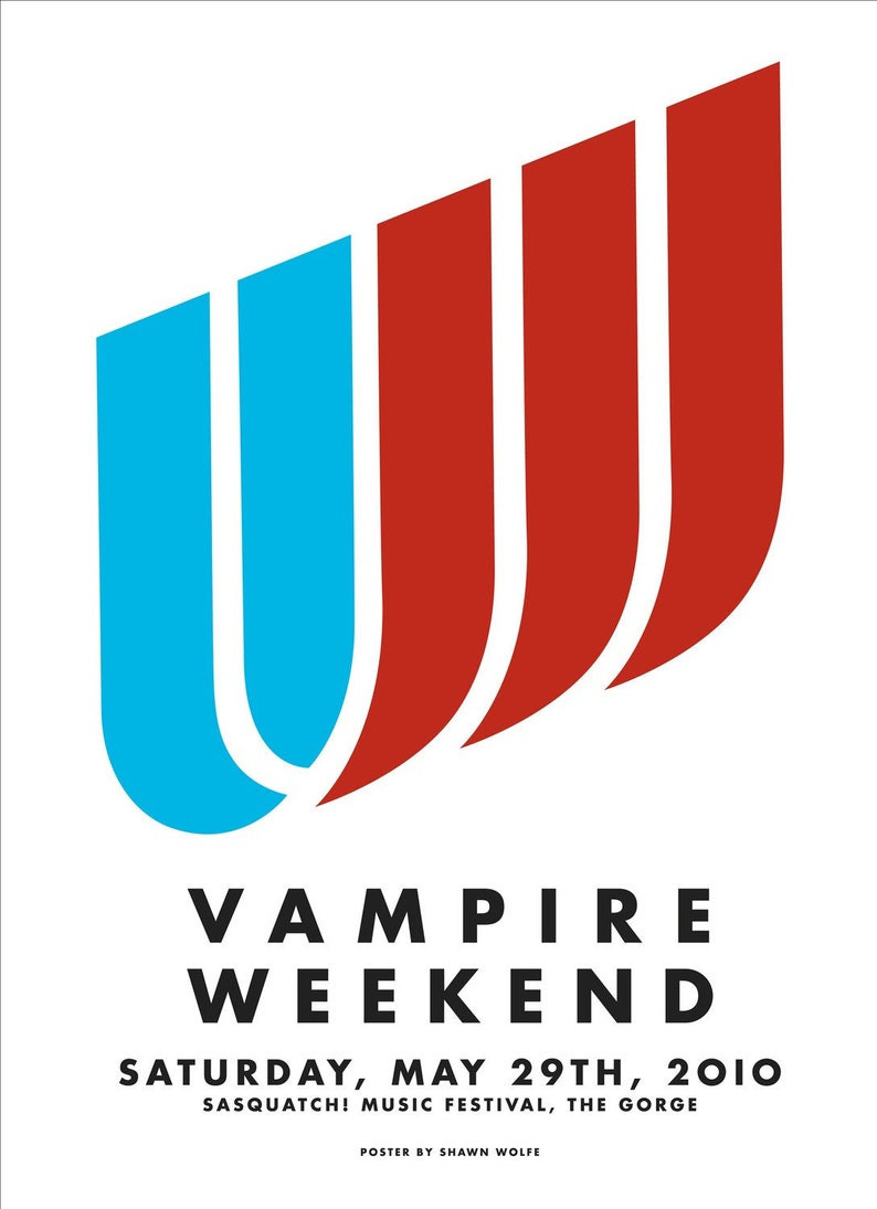 Vampire Weekend Sasquatch Festival 2010 by Shawn Wolfe image 1