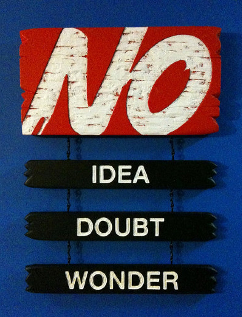 No: Idea Doubt Wonder sculpture by Shawn Wolfe image 0