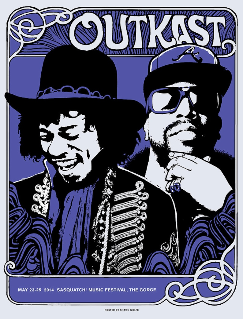 Outkast poster Sasquatch Festival 2014 by Shawn Wolfe image 1