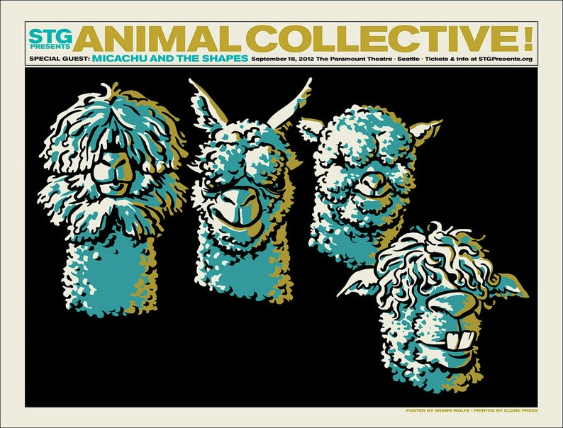 Animal Collective / Micachu & The Shapes poster by Shawn image 0
