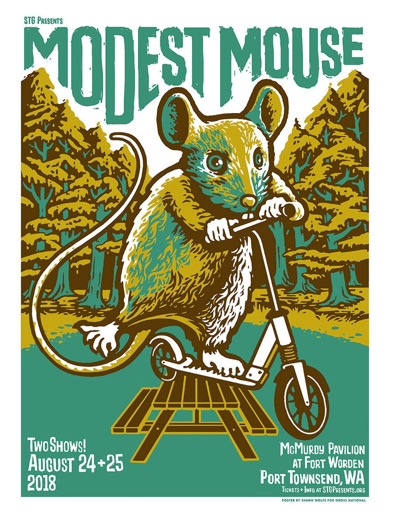 Modest Mouse poster by Shawn Wolfe image 0