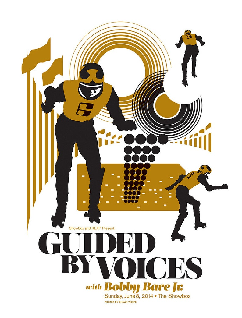 Guided By Voices with Bobby Bare Jr. poster by Shawn Wolfe image 0