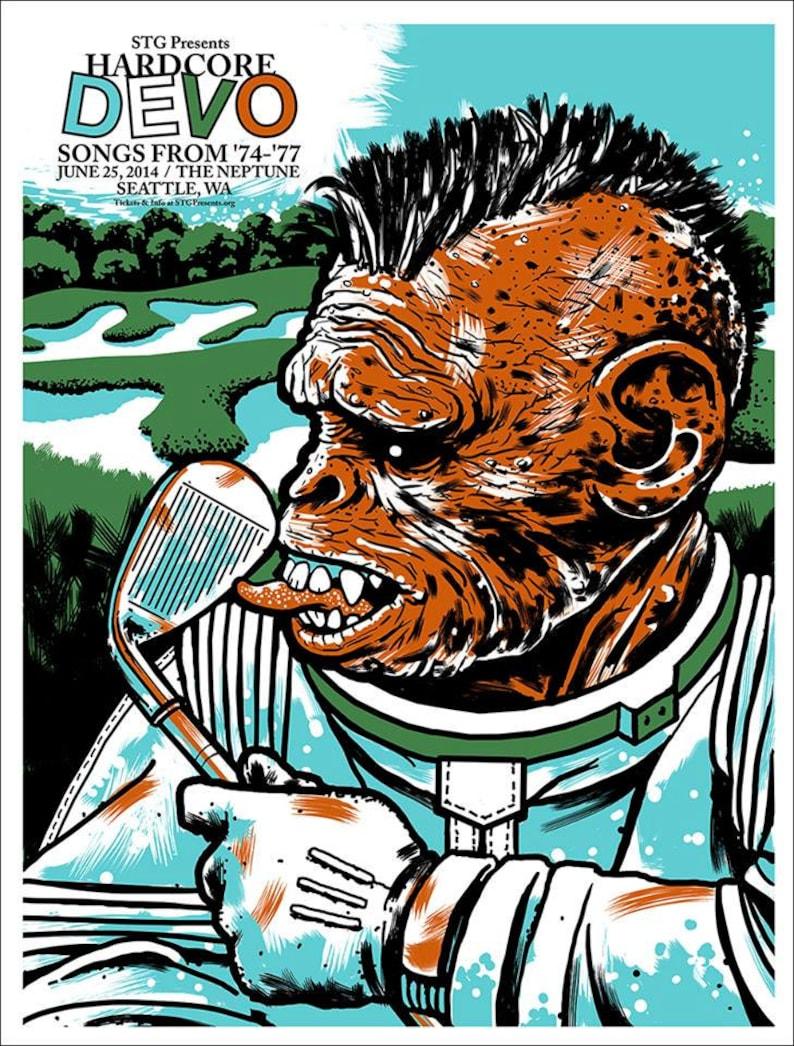 HARDCORE DEVO poster by Shawn Wolfe image 1