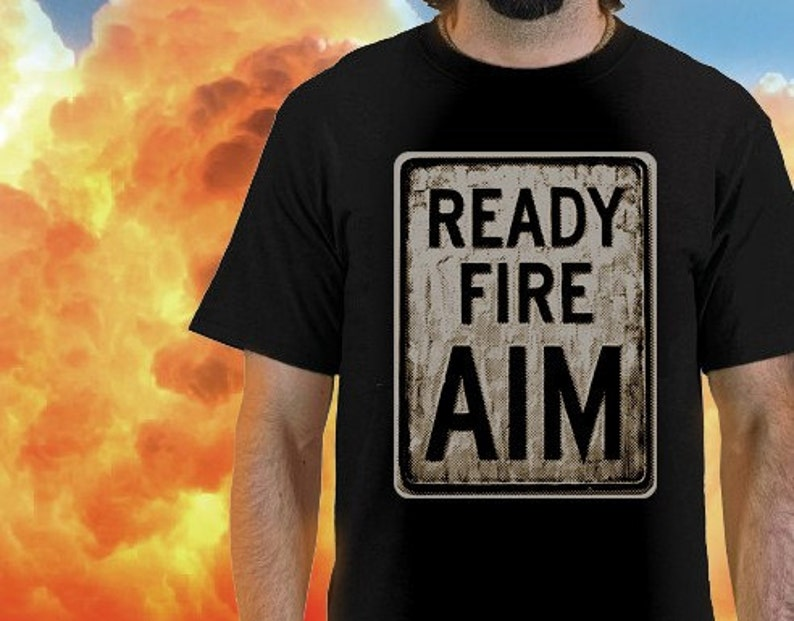Ready Fire AIM tee by Shawn Wolfe image 0