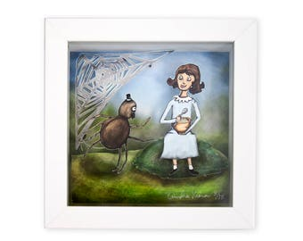 Little Miss Muffet Shadow Box - Limited Edition Shadow Box Wall Art