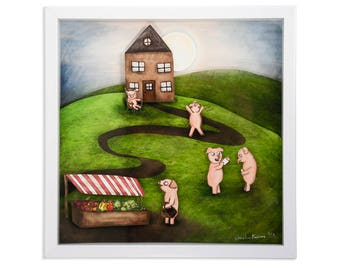 This Little Piggy Shadow Box - Limited Edition Shadow Box Wall Art