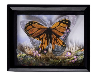 Butterfly Blood Shadow Box - Limited Edition Cut Paper Wall Art