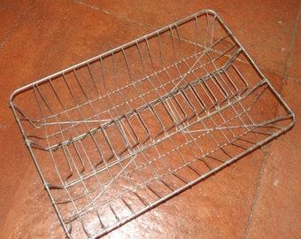 Vintage Metal Mail Basket