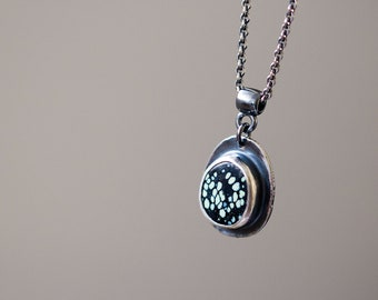 Candelaria Turquoise Necklace in Sterling Silver, Nevada Turquoise - Collector Stone - Starscapes
