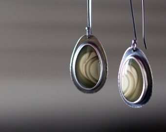 Royal Imperial Jasper Sterling Silver Earrings - Collector Stone - Spirits of the Wind
