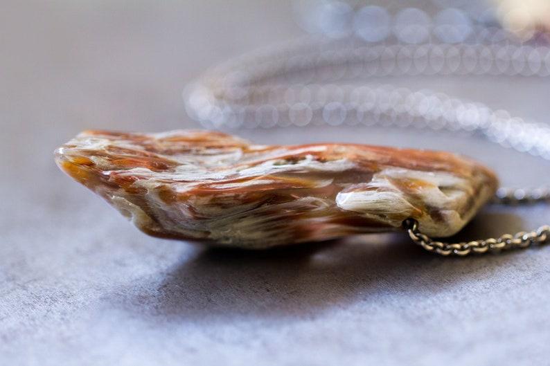 Amphibole Quartz Necklace Angel Phantom Quartz Sterling image 0