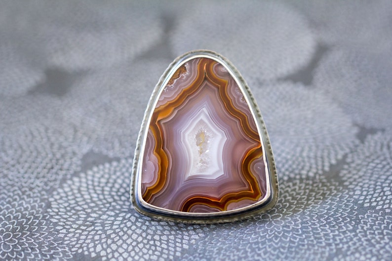 Agua Nueva Agate Ring in Sterling Silver Cocktail Ring  image 0