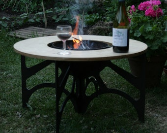 The Crucible - Barbeque inset table, Coffee table and Fire bowl, Ice Bucket, BBQ