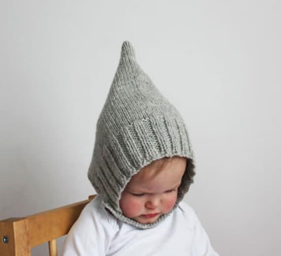 ce57c13c5128 Knitting Pattern PDF Infant and Toddler Pixie Bonnet   Etsy