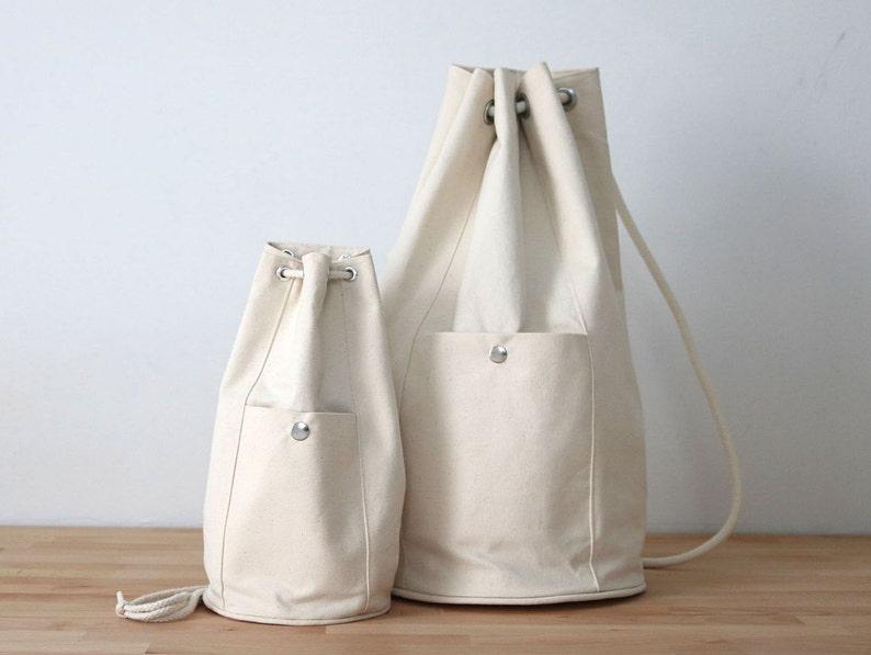Drawstring Bucket Backpack PDF Sewing Pattern Wholecloth image 1