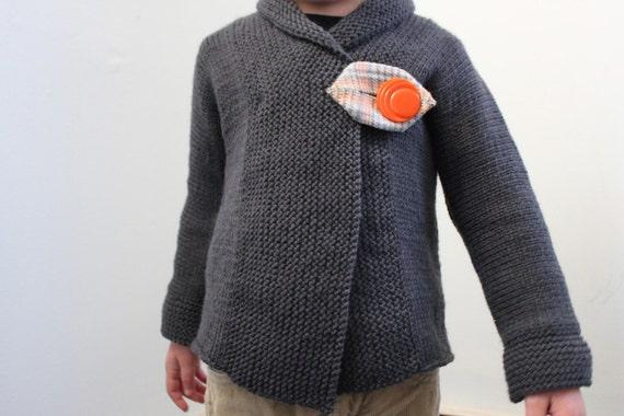 Direct Download Pdf Knitting Pattern Shawl Collar Sweater Etsy