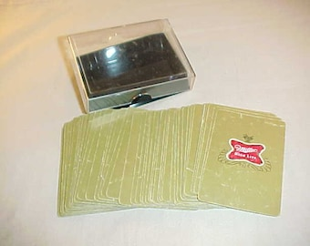 Vintage 1970/'s Gold Miller High Life Beer Playing Cards