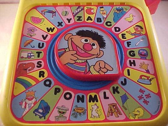 Alphabet Learning Toys : Playskool sesame street alphabet see n say learning toy etsy