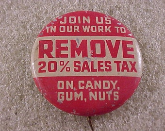 Vintage Advertising Pin Pinback Button - Annual Fair