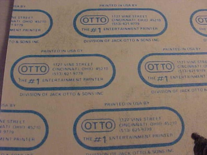 1986 Pat Benatar Otto Backstage Pass