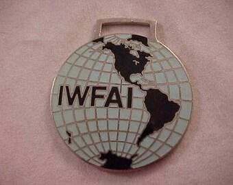 IWFAI Enameled Advertising Watch Fob International Watch Fob Association Incorporated