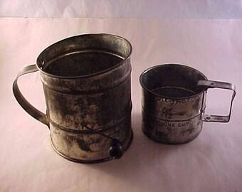 2 Tin Flour Sifters
