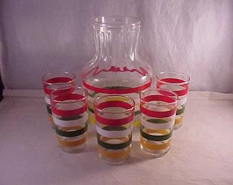 6 Piece Juice Set Carafe and 5 Glasses