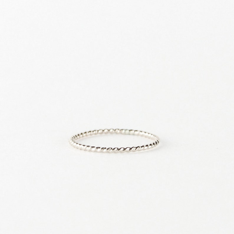 gold filled rose gold filled or sterling silver simple dainty minimalist ring Twisted wire stacking ring