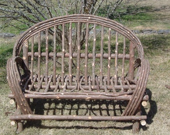 Rustic Cedar Twig Settee Local Pick Up Only