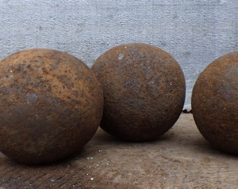 """3/"""" Cast Iron Ball crafts wrought iron fences cannon ball replica solid heavy"""