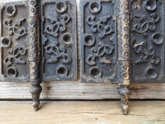 image 0 - 2 Antique Door Hinges Steeple Pins 4 Inch Hinge Victorian Etsy