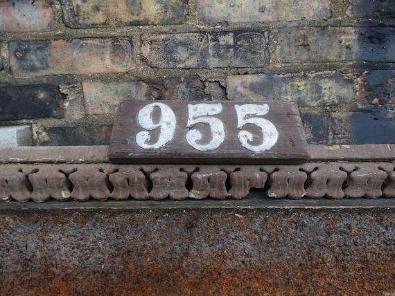 Antique Wood Pediment W Numbers 955 House Address 34 Etsy