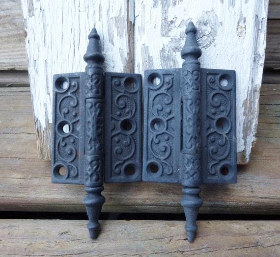 2 Antique Door Hinges Steeple 3 X 2 1/2 Inch Hinge Victorian | Etsy