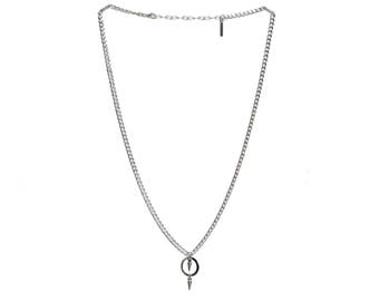 Sona Silver Spike Pendant Necklace
