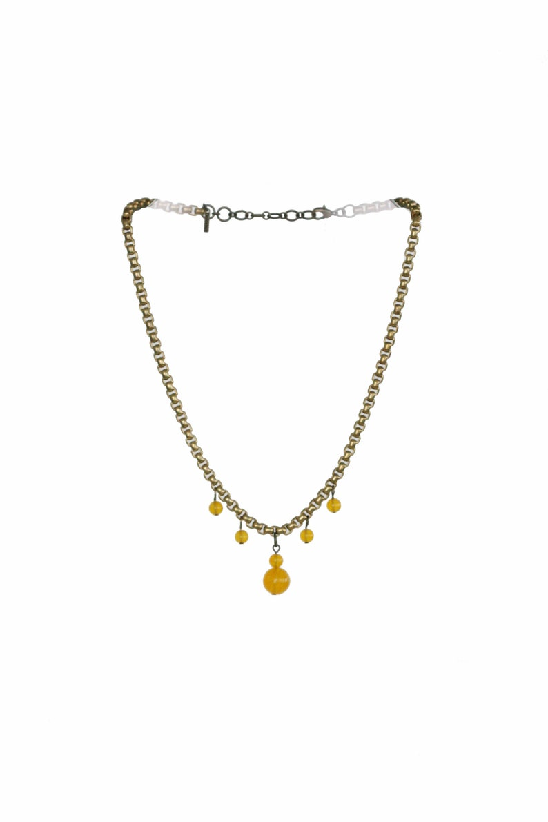 Indhi Yellow Chalcedony Crystal Necklace