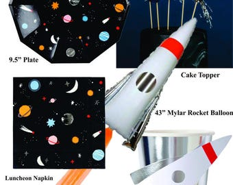 Outer Space Rocket Ship Astronaut Party Collection