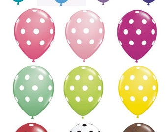 Biodegradable Balloons Polka Dot Premium Latex 11 inches Package of 10