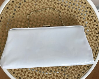 Vintage White White Patent Leather Purse