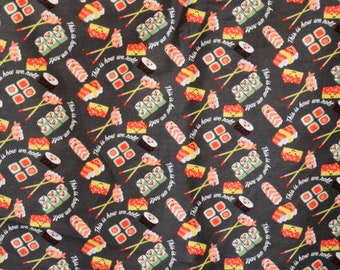 Sushi How we Roll print flannel Lounge pants pajama dorm lounge made to order your choice size XS - 2X
