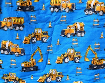 Construction vehicle heavy equipment Flannel pants pajama pants dorm lounge made to order your choice size XS - 2X
