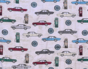 Classic cars and gas pumps Flannel pants pajama dorm lounge made to order your choice size XS - 2X