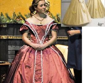 Victorian 1860s reenactment gown costume