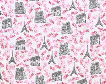 Paris in the Spring Flannel pajama pants print lounge dorm made to order your choice size XS - 2X
