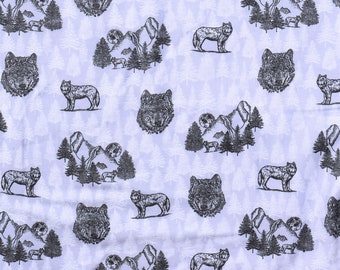 Wolves wolf on a light gray background Flannel pajama pants lounge dorm made to order your choice size XS - 2X