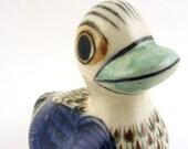 Vintage Ceramic Mexican Bird Duck Figurine