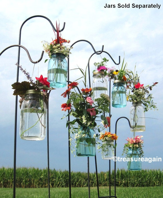 Wedding Aisle Mason Jar Diy Hanging Flower Vases Or Lanterns 8 Etsy